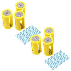 単三3本 - 単一 乾電池変換アダプター (6個セット)|reudo