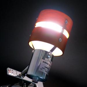 【LED電球付き:50W形相当 白色】クリップライトE26・2環ウッドシェード reudo