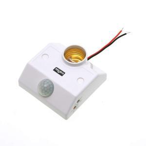 後付け 人感センサー E26 ソケット 一体型ユニット 照明器具用 PIR 人感・照度センサー両搭載 直付タイプ LED電球専用 電球別売