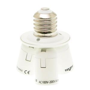 E39 to E26 x 3 口金変換3分配アダプター(LED電球専用)|reudo