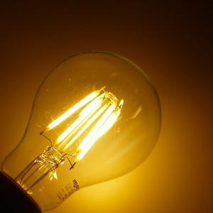 ReUdo LEDフィラメント電球 クリアガラス 全方向タイプ E26口金 一般電球40W形相当 全光束450lm 消費電力4W 電球色2700K (1個単品)|reudo