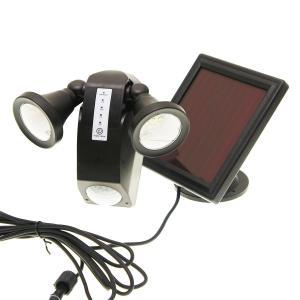 ■フレキシブルに節度を持って回転できる2つのLEDライトを持つ、人感センサー付ソーラーパネル充電投光...