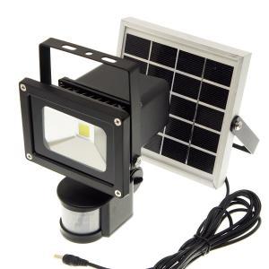 【ソーラー充電式・人感センサー搭載】LED投光器 300ルーメン(昼光色6000K)|reudo