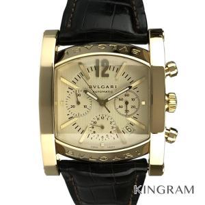 ブルガリ アショーマ クロノグラフ AA48GCH 仕上げ済 自動巻 メンズ 腕時計 te【中古】