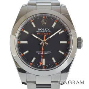 ロレックス ミルガウス  116400 V番 OH済 自動巻 メンズ 腕時計 as【中古】