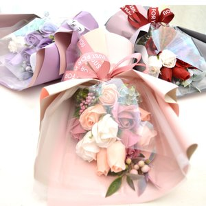 石鹸で作った上品なお花のブーケ。香ります! 人気急上昇の新しいタイプのお花ソープフラワーは、コスパも...