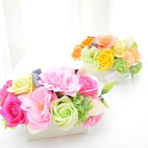 石鹸で作った可愛いお花のギフト。香ります! 人気急上昇の新しいタイプのお花ソープフラワーは、コスパも...