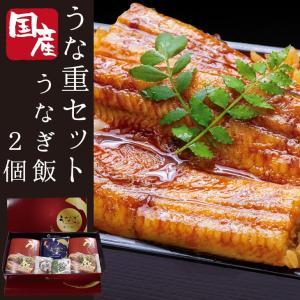 宮崎県 国産うなぎ うな重セット うなぎ飯x2 肝焼き お吸い物 化粧箱入 ギフトBOX 九州の美味しい鰻をご自宅で簡単に食べられます 中村商店 ウナギ お祝い 贈答 revemarche