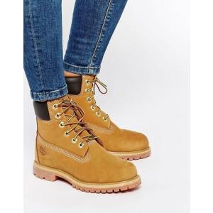 ティンバーランド レディース ブーツ・レインブーツ シューズ Timberland 6 inch premium lace up beige flat boots|revida