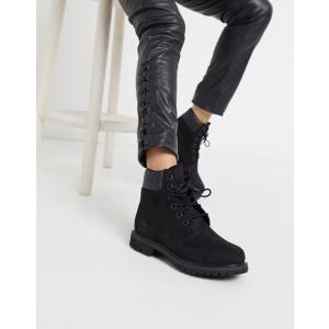 ティンバーランド レディース ブーツ・レインブーツ シューズ Timberland 6 inch premium black lace up flat boots|revida