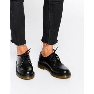 ドクターマーチン レディース パンプス シューズ Dr Martens 1461 Classic Black Flat Shoes|revida