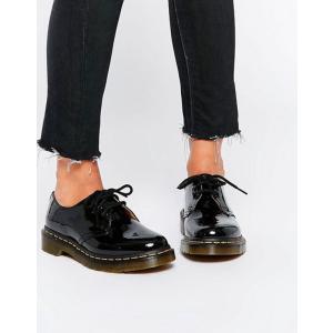 ドクターマーチン レディース パンプス シューズ Dr Martens 1461 classic black patent flat shoes|revida
