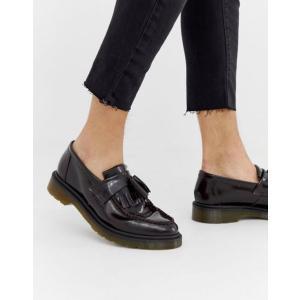 ドクターマーチン メンズ スリッポン・ローファー シューズ Dr Martens Adrian tassel loafers in burgundy|revida