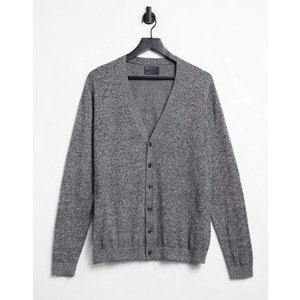 エイソス メンズ カーディガン アウター ASOS Cardigan In Black and White Twist Cotton|revida