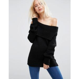 エイソス レディース ニット・セーター アウター ASOS Sweater with Off Shoulder Detail|revida