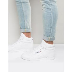 リーボック メンズ スニーカー シューズ Reebok Ex-O-Fit Hi-Top Sneakers In White 3477 revida