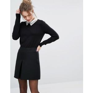 オアシス レディース ニット・セーター アウター Oasis Embellished Collar Sweater|revida
