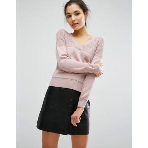 エイソス レディース ニット・セーター アウター ASOS Sweater In Pointelle Stitch With V Neck|revida