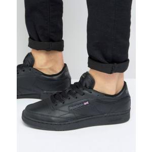 リーボック メンズ スニーカー シューズ Reebok Club C Leather Sneakers In Black AR0454 revida