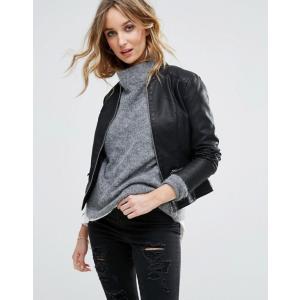 ヴィラ レディース ジャケット・ブルゾン アウター Vila Leather Look Jacket|revida