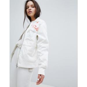 マハリシ レディース ジャケット・ブルゾン アウター Maharishi Upcycled Arctic Rib Jacket With Blossom Embroidery|revida