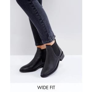 エイソス レディース ブーツ・レインブーツ シューズ ASOS ABSOLUTE Wide Fit Leather Chelsea Ankle Boots|revida