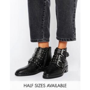 エイソス レディース ブーツ・レインブーツ シューズ ASOS ASHER Leather Studded Ankle Boots|revida