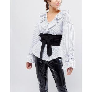 エイソス レディース ベルト アクセサリー ASOS Black Fabric Obi Belt|revida