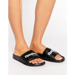 リーボック レディース サンダル シューズ Reebok Classic Logo Sliders In Black revida