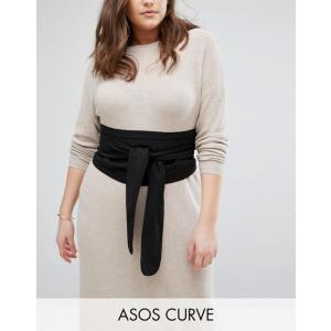 エイソス レディース ベルト アクセサリー ASOS CURVE Black Fabric Obi Belt|revida