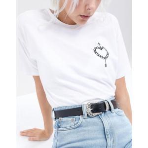 エイソス レディース ベルト アクセサリー ASOS Leather Western Tip Waist And Hip Belt|revida