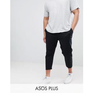 エイソス メンズ カジュアルパンツ ボトムス ASOS PLUS Skinny Super Crop Chinos in Black|revida