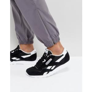 リーボック メンズ スニーカー シューズ Reebok Classic nylon sneakers in black 6604 revida