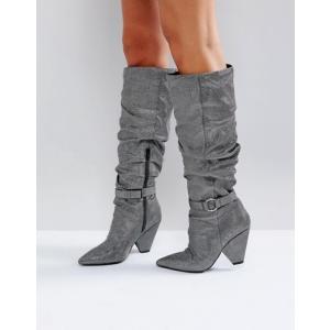 エイソス レディース ブーツ・レインブーツ シューズ ASOS CHAPTER Ruched Knee Boots|revida