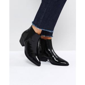 エイソス レディース ブーツ・レインブーツ シューズ ASOS RHIANNON Leather Western Ankle Boots|revida