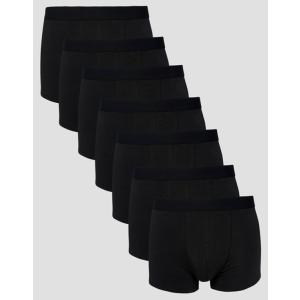 エイソス メンズ トランクス アンダーウェア ASOS Trunks In Black 7 Pack|revida