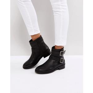 エイソス レディース ブーツ・レインブーツ シューズ ASOS ALLEN Leather Biker Boots|revida