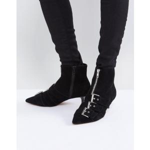 エイソス レディース ブーツ・レインブーツ シューズ ASOS REVELATION Suede Heeled Ankle Boots|revida