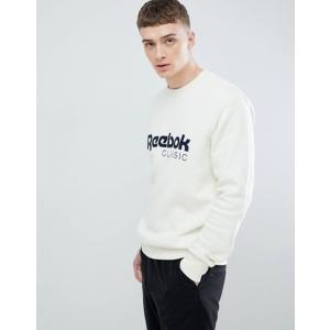 リーボック メンズ パーカー・スウェット アウター Reebok Classic Logo Sweatshirt In White CZ0300 revida