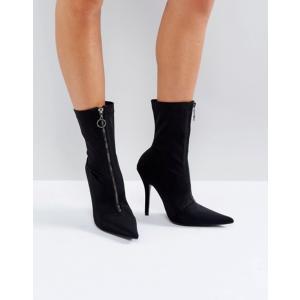パブリックデザイア レディース ブーツ・レインブーツ シューズ Public Desire Andorra Zip Front Sock Boots|revida