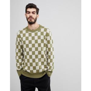 ヌーディージーンズ メンズ ニット・セーター アウター Nudie Jeans Co Elof Checkerboard Sweater|revida