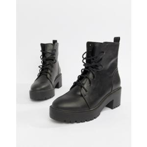 エイソス レディース ブーツ・レインブーツ シューズ ASOS DESIGN Raider Chunky Lace Up Boots revida
