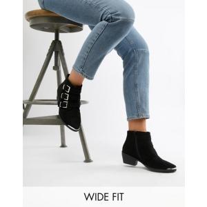 エイソス レディース ブーツ・レインブーツ シューズ ASOS DESIGN Rhyme Wide Fit Western Ankle Boots revida