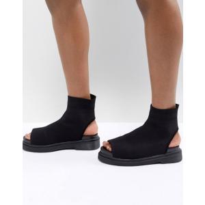 エイソス レディース ブーツ・レインブーツ シューズ ASOS DESIGN Anton Knitted Shoe Boots revida