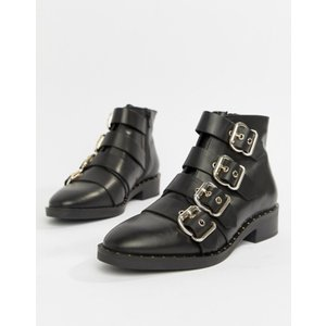エイソス レディース ブーツ・レインブーツ シューズ ASOS DESIGN Avid Leather Studded Ankle Boots revida