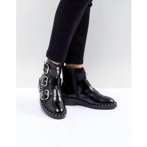 エイソス レディース ブーツ・レインブーツ シューズ ASOS DESIGN Alena Leather Multi Buckle Ankle Boots revida