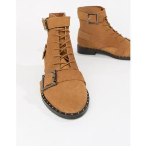 エイソス レディース ブーツ・レインブーツ シューズ ASOS DESIGN Arabelle Suede Lace Up Boots revida