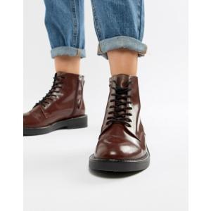 エイソス レディース ブーツ・レインブーツ シューズ ASOS DESIGN Anarchy Leather Lace Up Boots revida