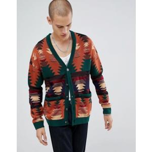 エイソス メンズ カーディガン アウター ASOS DESIGN textured cardigan with jacquard design|revida