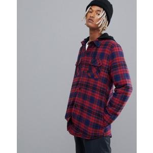 ボルコム メンズ シャツ トップス Volcom Field Ins Hooded Flannel in Red|revida